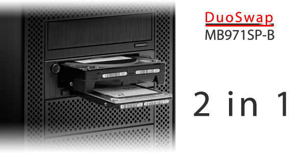 Icy Dock MB971SP-B DuoSwap
